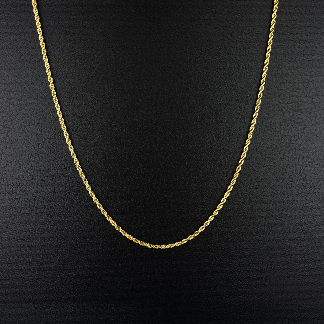 PE3950 14K Rope Chain 3mm×50cm
