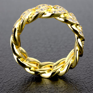 PE5011 Miami Cuban Link Ring 7mm