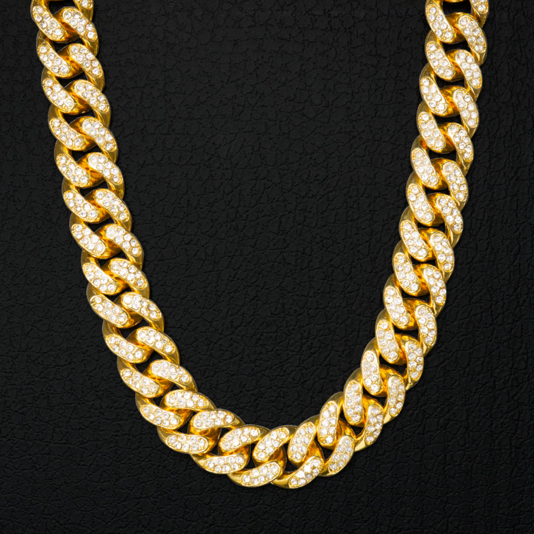 PE3450 18K Miami Cuban Link 12mm×45/50/60cm