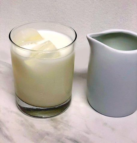 cup of milk and ice