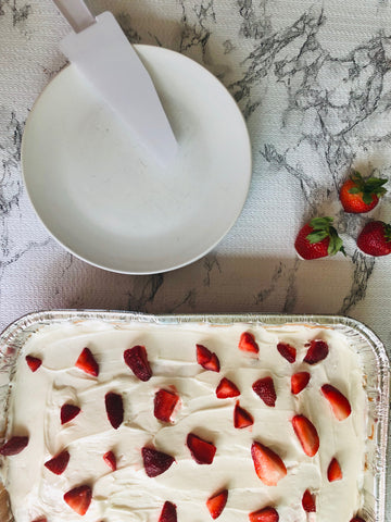Enjoy Strawberry Supreme Cake with Cream Cheese Frosting