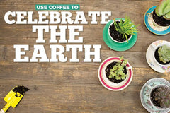 In honor of Earth Day, we want to share with you a quick tip you can do to make the earth a greener place. Don't throw away those morning coffee grounds - we're going to show you how to use them to create a beautiful succulent garden.