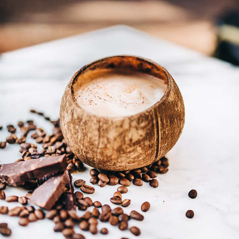 Love Coconection chocolate and coconut flavored coffee