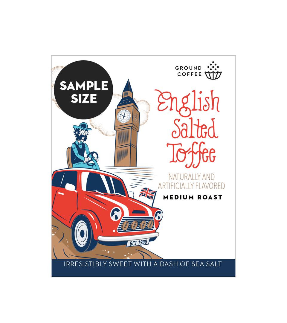 English Salted Toffee Coffee, 2.5oz.
