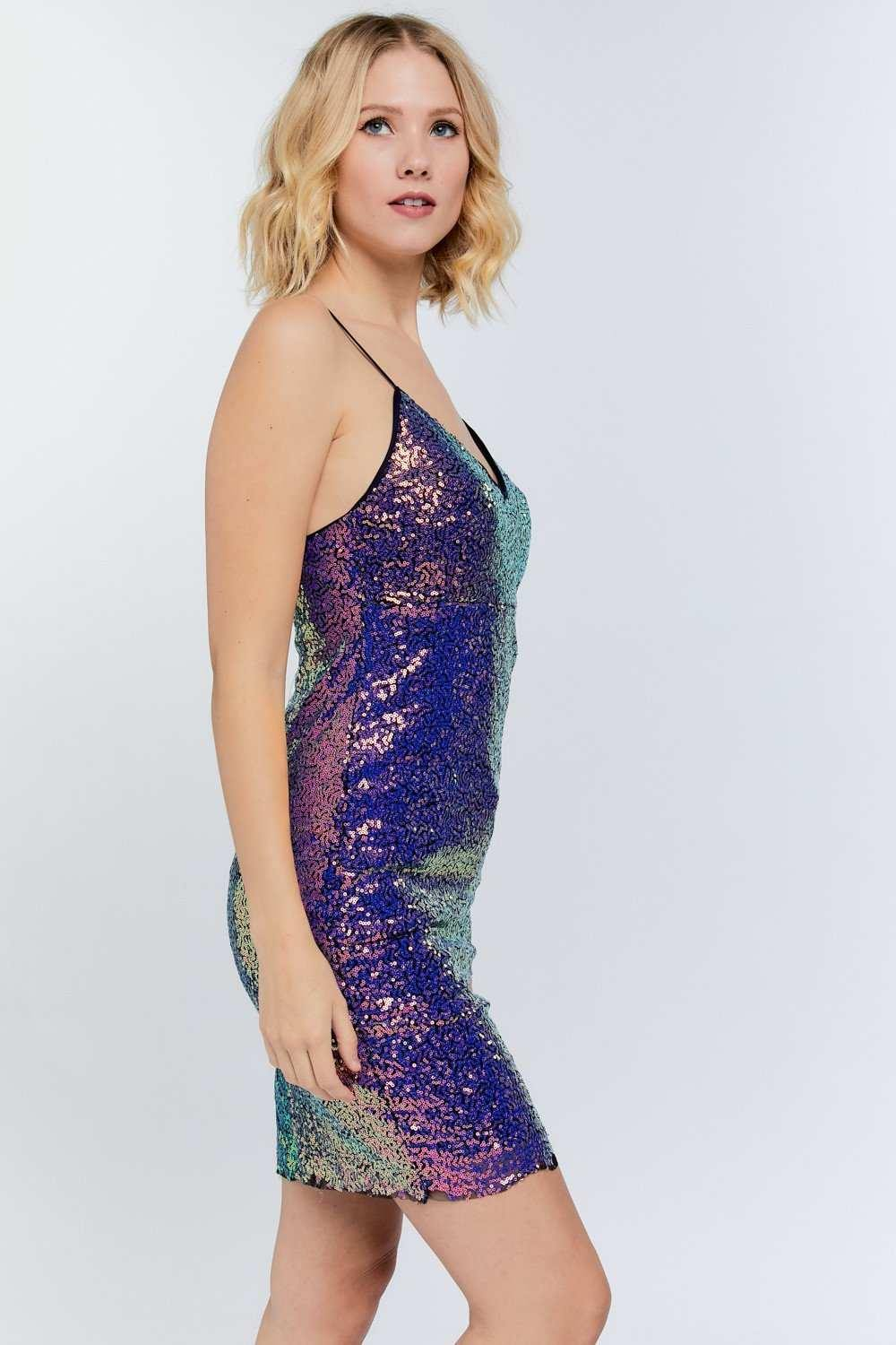 Sequin Covered Cami Bodycon Dress