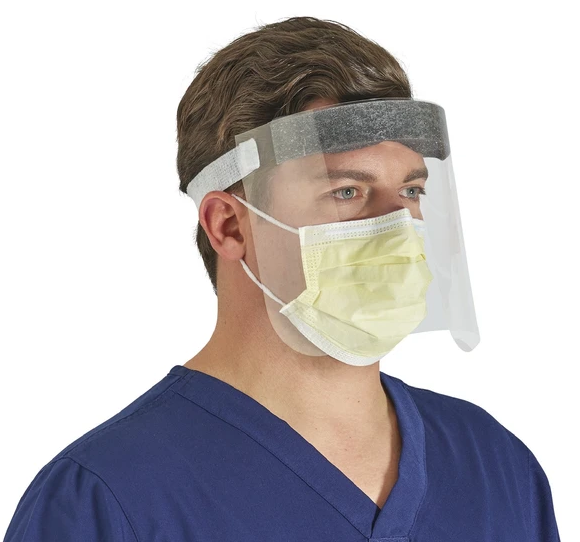 Which side of the surgical face mask is correct?