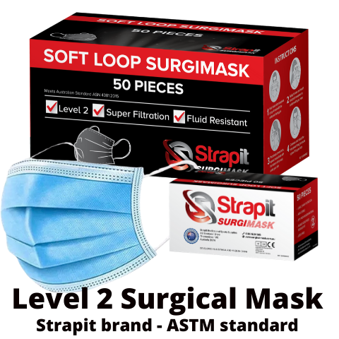 Level 2 (ASTM) Surgical Mask - Ear Loops - ASTM STANDARD