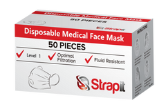 Level 1 Surgical Mask - Ear Loops - ASTM - STRAPIT Brand