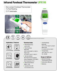 Infrared Forehead Thermometer UFR106 - Strapit Surgimask Australia