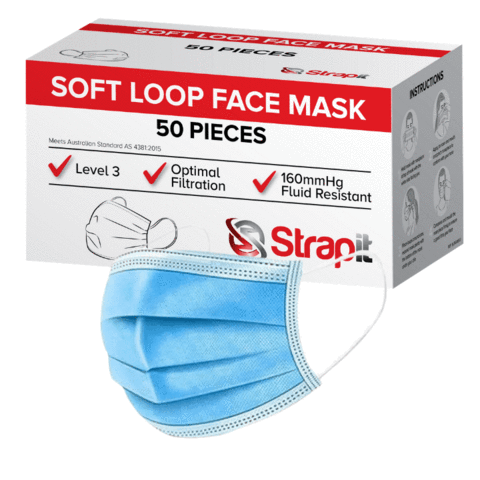 Level 3 Ear Loop Surgical Mask - 160mmHg Fluid Resistance and Optimal Submicron Filtration
