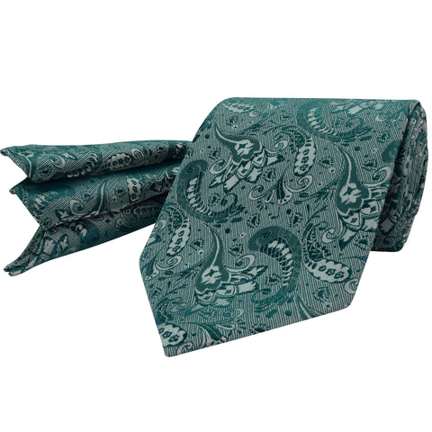 114 Mens Emerald Green Tie Set