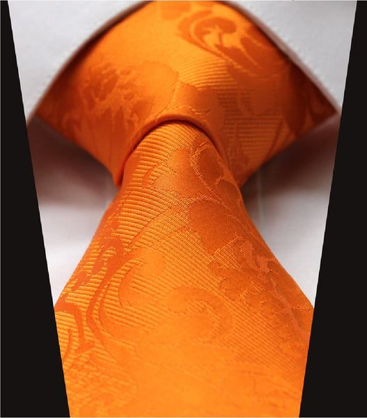 Self Print Tangerine Orange Tie Necktie