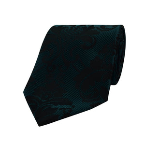 233 Mens Deep Turquoise Black Tie Set