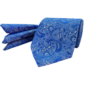 110 Mens Blue Tie Set