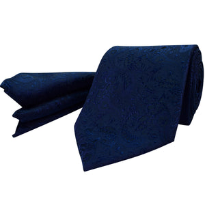 111 Mens Navy Tie Set