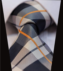 Scottish Tartan Blue & Brown Tie Necktie