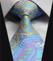 Composite Blue Teal & Yellow Tie Necktie