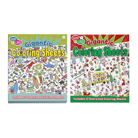 GIBBY & LIBBY Gigantic Coloring Sheets<br/>塗鴉壁畫 (共2款)