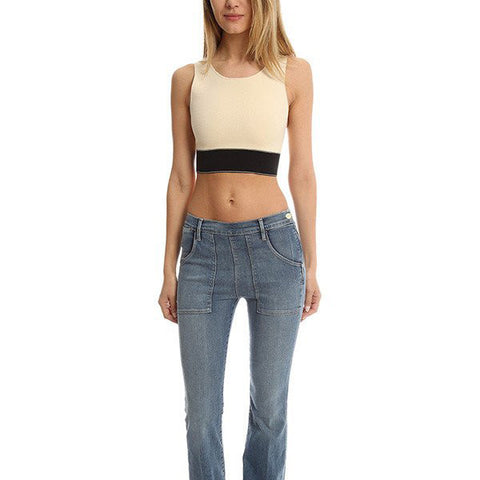 RAG & BONE Regina Crop Top雙色短板繃帶背心