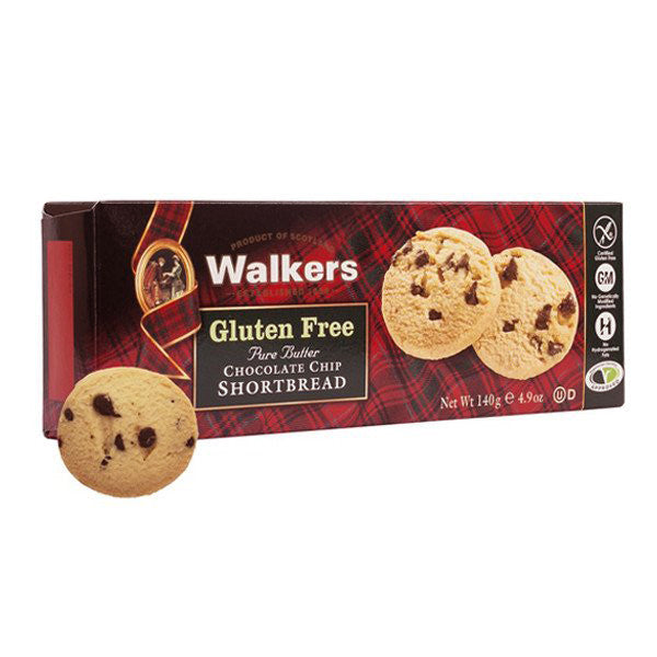 WALKERS Gluten Free Chocolate Chip Shortbread<br/>蘇格蘭皇家無麩質奶油巧克力餅乾 (6入/組) - Shark Tank Taiwan