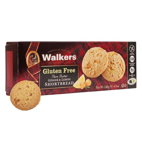 WALKERS Gluten Free Ginger & Lemon Shortbread<br/>蘇格蘭皇家無麩質薑味檸檬奶油餅乾 (6入/組) - Shark Tank Taiwan