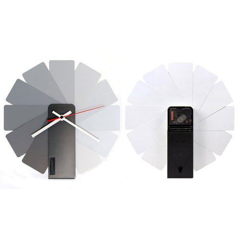 KIBARDIN Transformer Clock / Black<BR/>時鐘 - 灰色扇葉/黑色主體