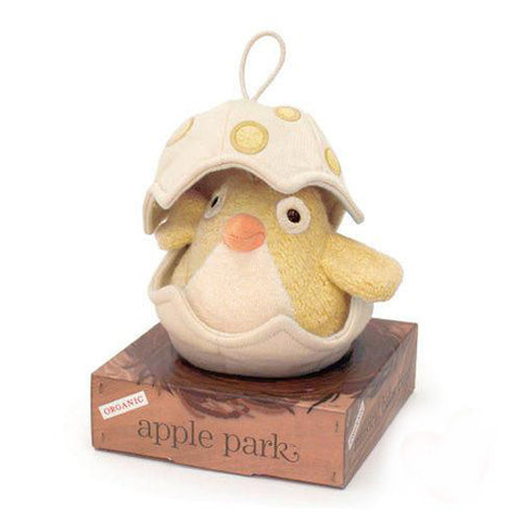 APPLE PARK Musical Baby Bird Pull Toy - Yellow<BR/>有機棉音樂拉鈴 - 黃鳥寶寶 - Shark Tank Taiwan