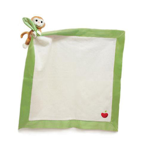 APPLE PARK Organic Cotton Stroller Blanket - Monkey<BR/>有機棉玩偶隨身毯 - 小猴子 - Shark Tank Taiwan