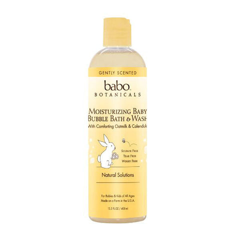 BABO BOTANICALS Moisturizing Baby Bubble Bath & Wash<BR>燕麥金盞花泡泡浴露