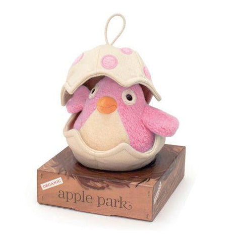 APPLE PARK Musical Baby Bird Pull Toy - Pink<BR/>有機棉音樂拉鈴 - 粉紅鳥寶寶 - Shark Tank Taiwan
