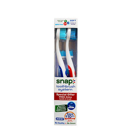 SNAP Toothbrush + Replacement Heads<br/>環保替換牙刷頭 + 牙刷組合
