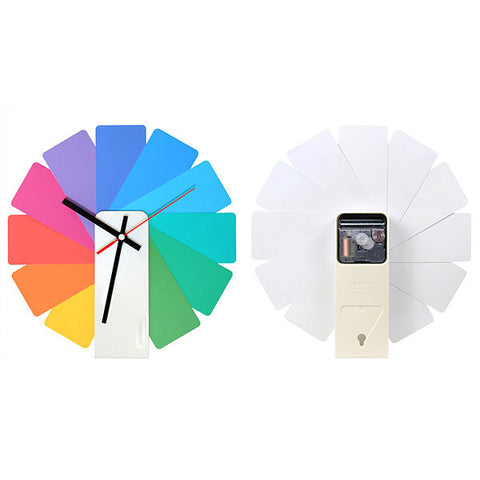 KIBARDIN Transformer Clock / White<br/>時鐘 - 彩色扇葉/白色主體