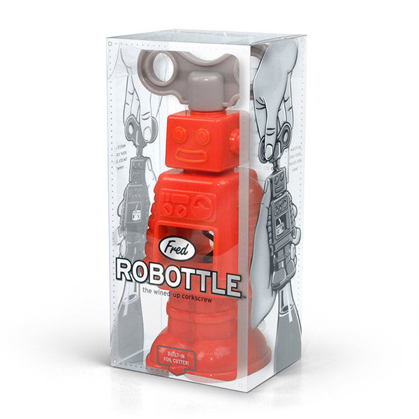 FRED & FRIENDS Robottle Corkscrew<BR/>機器人造型開瓶器 - Shark Tank Taiwan