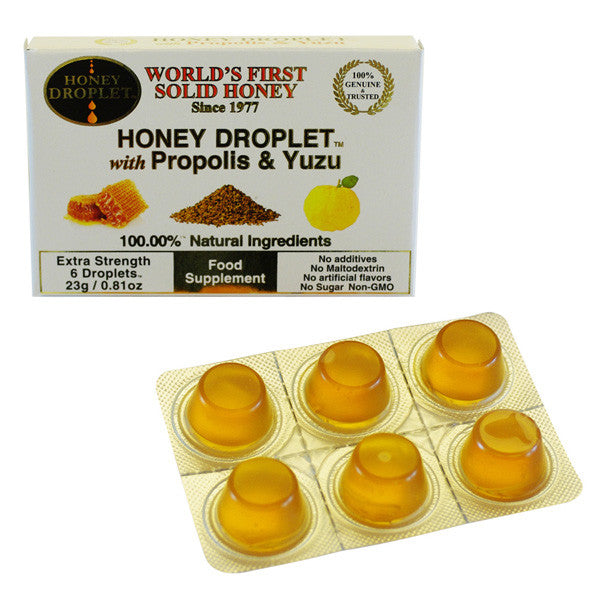 NEW ZEALAND HONEY Premium Honey Droplet <br/>麥蘆卡固態蜂蜜糖 柚子口味 (6入/盒) - Shark Tank Taiwan