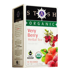 STASH TEA Organic Tea - Very Berry<br/>有機綜合莓果草本茶 (6盒/組) - Shark Tank Taiwan