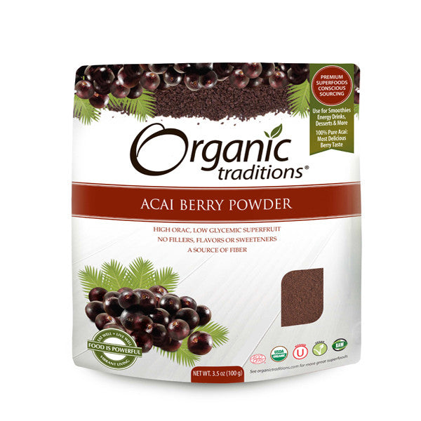 ORGANIC TRADITIONS Organic Freeze Dried Acai Berry Powder<br/>[預購] 有機思維 有機凍乾巴西莓粉 - Shark Tank Taiwan