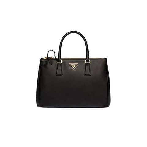 PRADA Galleria Saffiano Leather Tote<BR/>經典黑防刮牛皮殺手包 M