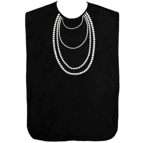 FRENCHIE MINI COUTURE Pearl Necklace Adult Waterproof Bib<br/>第凡內早餐珍珠項鍊成人防水圍兜 - Shark Tank Taiwan