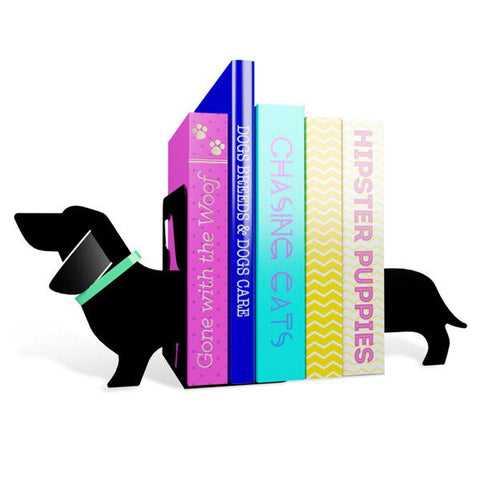 MUSTARD Really Long Sausage Dog Bookends<BR/>造型書擋 - 臘腸狗