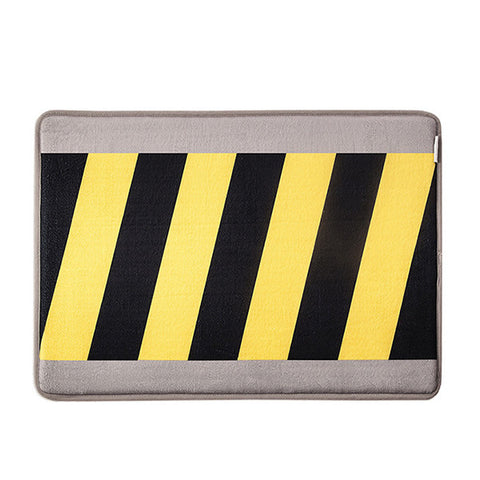 HOME INSPIRATIONS Warning Bath Mat<br/>趣味記憶綿浴墊 - 施工警示