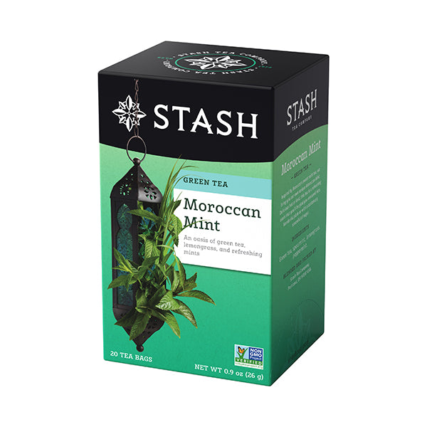 STASH TEA Green and White Tea - Moroccan Mint Green<br/>摩洛哥薄荷綠茶 (6盒/組)