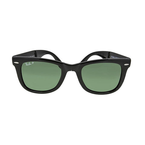 RAY BAN -  Folding Wayfarer Black Plastic 50mm Men's Sunglasses