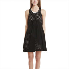 Gathered Front Dress w/ Polka Dot Panels 洋裝 - Shark Tank Taiwan