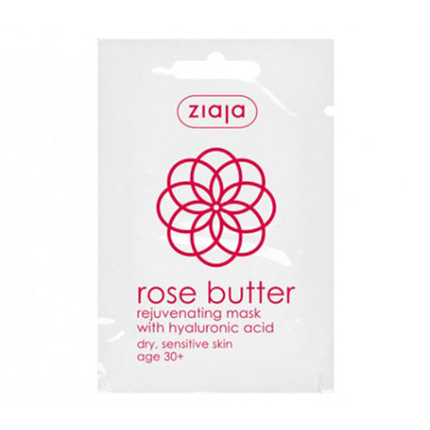 ZIAJA Rose Butter - Rejuvenating Mask With Hyaluronic Acid玫瑰活力面膜 (3入/組)