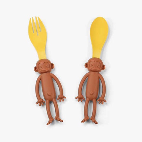 THE DAYDREAMER STUDIO Monkey Spoon & Fork<br/>小猴子餐具組
