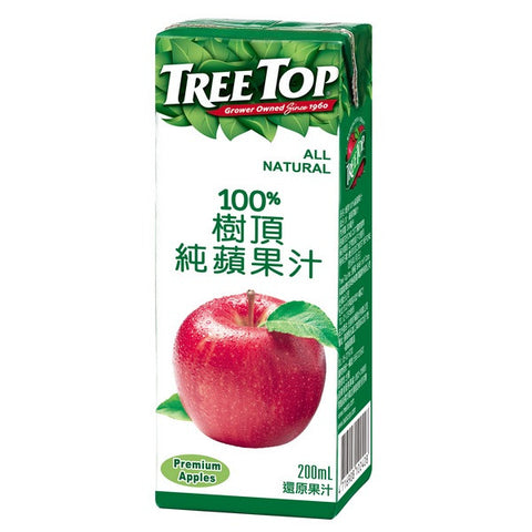 TREE TOP All Natural Apple Juice<br/>樹頂100%純蘋果汁 200ML (48入/組)