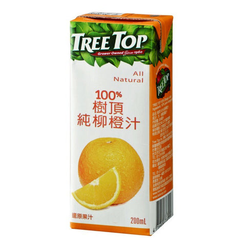 TREE TOP All Natural Orange Juice<br/>樹頂100%純柳橙汁 200ML (48入/組)