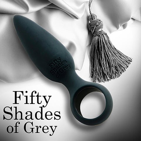 FIFTY SHADES OF GREY<br/>水滴型柔軟細膩矽膠肛塞