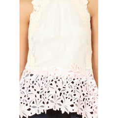 3.1 PHILLIP LIM Sleeveless Floral Lace Tank<br/>削肩雕花背心
