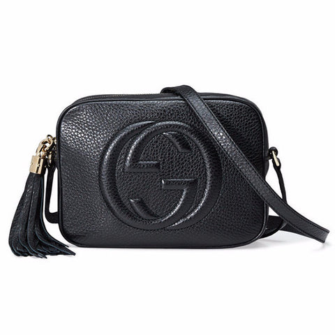 GUCCI Soho Leather Disco Bag - Black